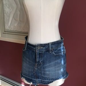 Abercrombie & Fitch cut off denim mini sz 2